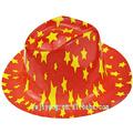 plastique noël chapeau de cowboy chapeau de pluie de pvc