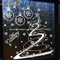 Xmas10zooyoo vinyle blanc flocon de neige joyeux Noël amovible murale Stickers muraux