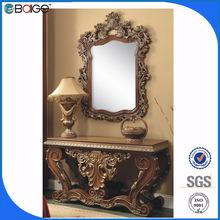 S-1800b buena calidad antiguo con espejo de madera de la consola de mesa