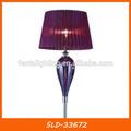 De color púrpura pantalla de tela de lujo piso de la lámpara para la habitación sld-33672