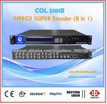 8channels codificador MPEG2 para la televisión por cable