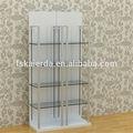 Nuevo diseño de la ducha de vidrio estante de la esquina/estante de vidrio apoyo/vidrio soportes de repisa