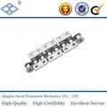 De acero inoxidable de doble paso de la cadena transportadora con rodillos standard ISO apego w1