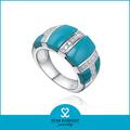 la india de piedras preciosas topacio azul anillo de la joyería