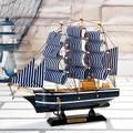 de pino 20cm decorativos de madera modelo de barco de vela