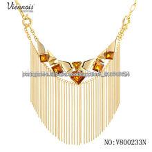 Venda rocha colar me moda quente Imitação colar de ouro