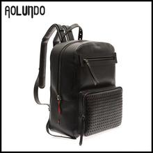 grande de la marca de lujo de diseño mochila para los hombres mochila de cuero