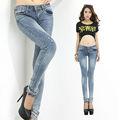 2014 más popular de venta al por mayor más el tamaño de los pantalones vaqueros para las mujeres
