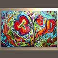 venta al por mayor hecho a mano de alta calidad comercial de colores de la pared arte