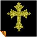 Fabricante de design strass cristal cruz de ouro