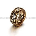 Venta caliente chapado en oro de la joyería retro dama del anillo del dedo NSR060STGCBK
