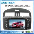 ZESTECH doble din de pantalla táctil del gps del coche para Nissan New Tiida con- en la navegación gps bluetooth radio agenda TV