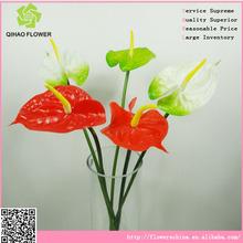 anthurium flores artificiales para la fabricación de la decoración de la boda