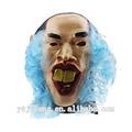peluca azul máscara de látex máscara de hombre