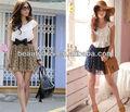 mulheres modelos de fluxo de renda e chiffon vestidos de moda coreano laço mini vestido de chiffon roupa