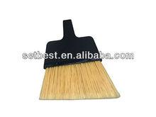 Plástico Limpieza empuje Small Angle Soft / Hard Floor Houshold escoba de cerdas de metal con asas
