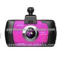 Pulgadas 2.7 1080p com lente de coche de visión nocturna grabadora