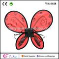 Rojo de hadas alas de mariposa vestido- up a favor del partido para los paquetes de niños pequeños de las niñas y los niños