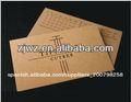 en relieve de papel kraft reciclado de papel de tarjetas de visita