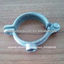 galvanizado de acero al carbono abrazaderas de tuberías en el hardware