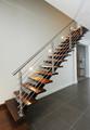 Escadas retas de madeira ou ferro