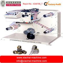 Parámetros técnicos de Máquina rebobinadora y cortadora de etiquetas autoadhesivas FQ