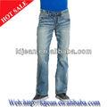 El hombre en pantalones vaqueros de diseñador de la foto retrato 100% de mezclilla de algodón pantalones vaqueros hombre