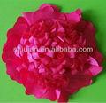 2014 gasa de color rojo/raso/tela de seda flores artificiales de venta al por mayor