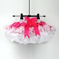 розовая пышная юбка для девочек в горошек