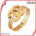 venta al por mayor joyería joyería bisuteria chapado en oro de imitación brazaletes