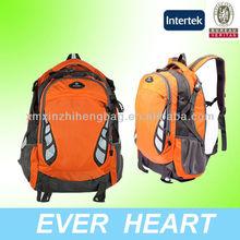 De color naranja fuerte mochila del hombro, senderismo bolsa a prueba de agua para los adolescentes