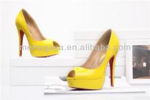 2014 al por mayor proveedor genuino del zapato de cuero del dedo del pie para las mujeres