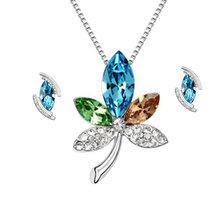 2014 de dama de honor nupcial conjuntos de joyería hecha con elementos de swarovski
