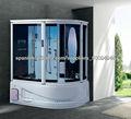 acrílico blanco vapor cabina de ducha con sauna casa y masaje modelo de bañera ducha con jacuzzi función