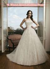 Encaje una línea elegante appliqued el vestido de novia de tul 2013 hecho en china fabricante proveedor 18