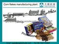 cereales para el desayuno copos de maíz que hace la línea maquinaria de procesamiento