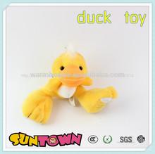 Llavero de peluche directo desde china, animales de peluche llavero, amarillo pato llavero