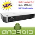 3D Full HD Display Mini proyector construido en el Android Wifi Wireless Beamer DLP HDMI RJ45 USB