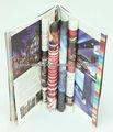 papel de arte de negocios folleto de encuadernación perfecta con estampación en plata