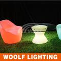 led couleurs changeantes en plastique blanc de jardin chaises