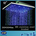 venta caliente de acero inoxidable ducha de techo rgb led