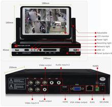 8ch 7 pulgadas lcd dvr con fps 25 d1/ch, la salida hdmi, la función p2p soporte 3g teléfono móvil vista