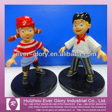 personaje de dibujos animados de plástico juguetes estatuilla