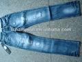 ( #tg126m) Nueva venta al por mayor 2014 pantalones vaqueros para hombre dañados