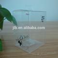 Grande boîte en plastique transparent carré, carrés en pvc boîte d'emballage de pliage