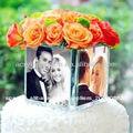 Nuevo diseño de moda de la moda hermosa mesa de acrílico florero lucite cubo, plexiglás lucite decoración de hogar