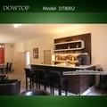 barra de bar en casa, diseño barra de bar de madera superior corian