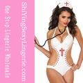 venta al por mayor 2014 para mujer sexy tachonada de enfermera sexy traje de ropa interior de peluche