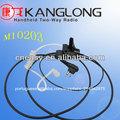 tubo acústico walkie talkie fone de ouvido para m10203 para pedaço da orelha de rádio