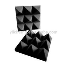 de alta densidad de estudio de insonorización acústica de la espuma 3 pulgadas de espuma de pirámide